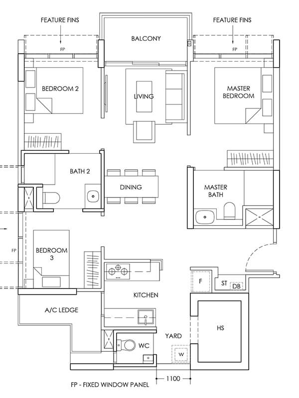 3-Bedroom-Type-C1-883sqft
